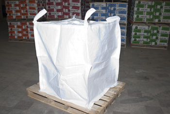 Bulk bags hold 2000 lbs to 3000 lbs.